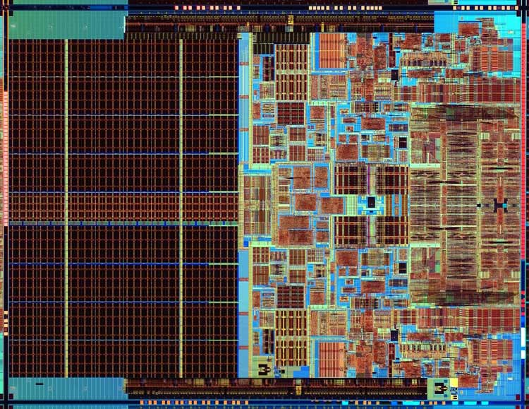 Intel Core2 Extreme processor die