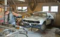 Alfetta in the Body Shop