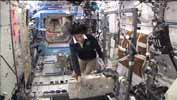 Shimano pedals on the ISS exercise bike