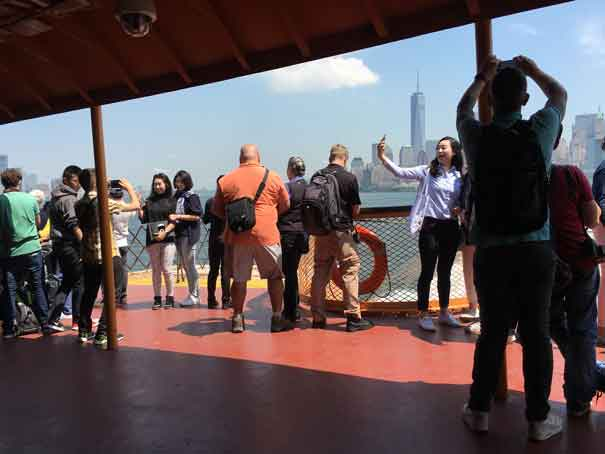 Staten Island Ferry, listing to starboard