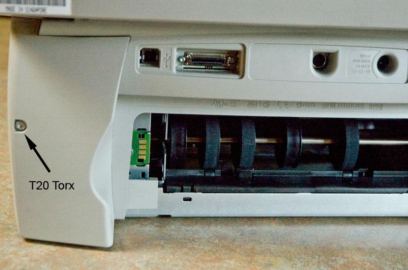 HP Officejet g55 rear panel