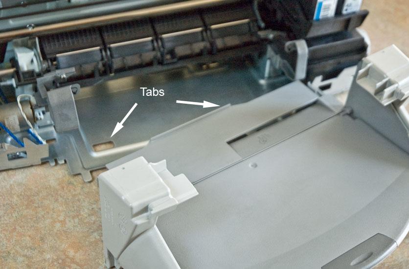 HP Officejet g55 tray